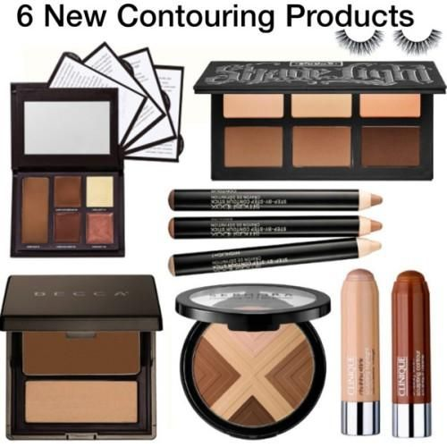 contouring products, How to contouring and highlighting your face with makeup http://www.justtrendygirls.com/how-to-contouring-and-highlighting-your-face-with-makeup/