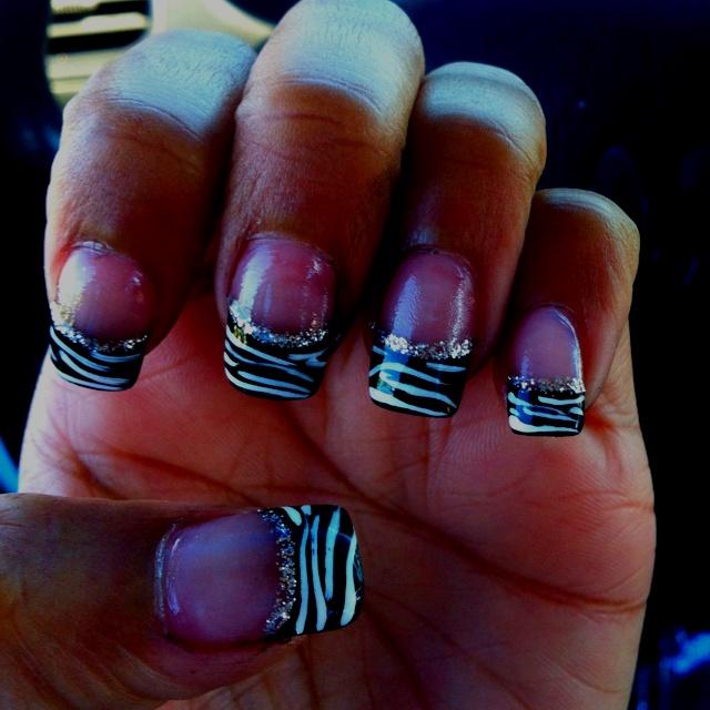 Zebra Print Nails: Nails Art, Nails Ideas 3, Nails Design, Nails Bling, Nails Forever, Hairs Makeup Nails 3, Nails Idea 3, Beauty Nails, Hairs Nails