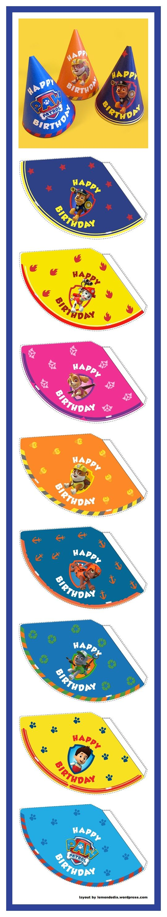 PAW Patrol Birthday Party Hats