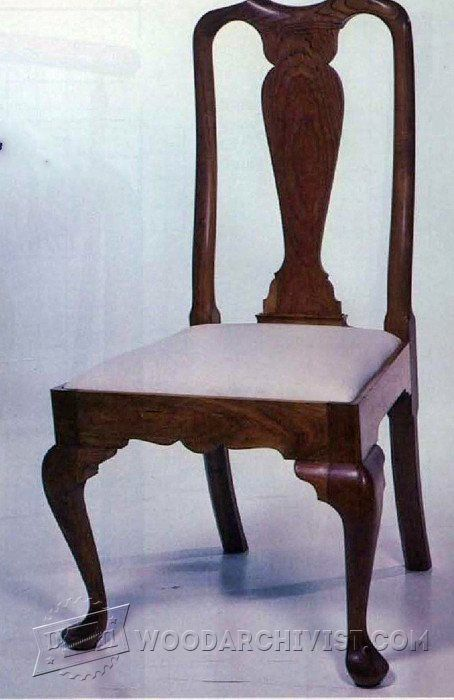 Queen anne side chair plans furniture plans and projects for Queen anne furniture plans
