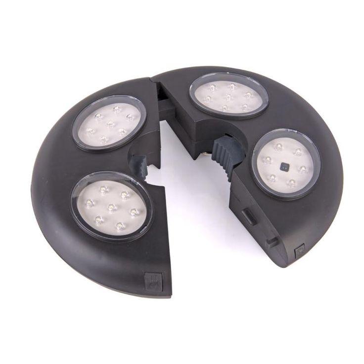 Luce da ombrellone con telecomando Wireless, funziona a batterie Telecomando ad infrarossi incluso Ideale per cene all'aperto, è ottima in campeggio Utilizzi 27 Led oppure solo 12