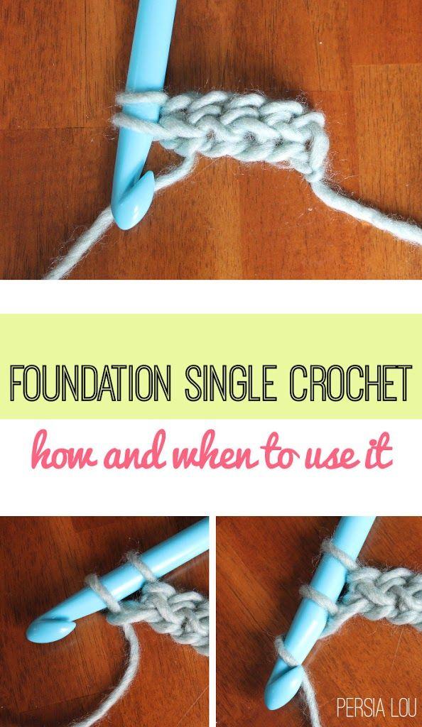 Foundation Single Crochet (FSC) Photo Tutorial ༺✿ƬⱤღ  https://www.pinterest.com/teretegui/✿༻
