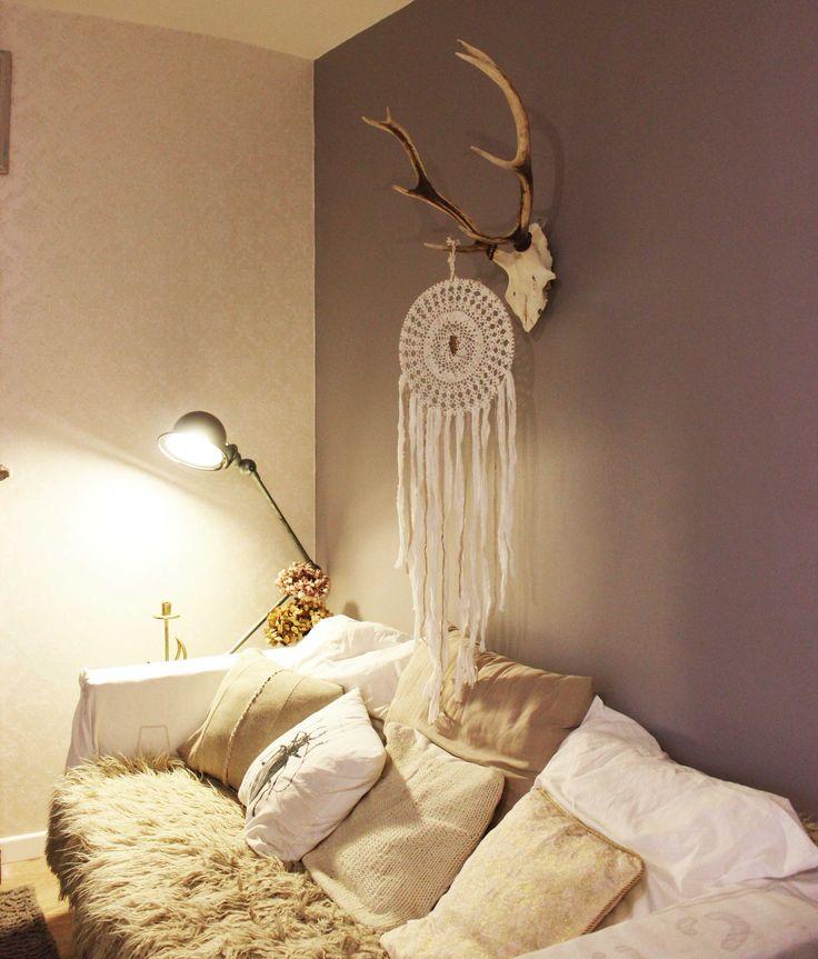 cosy sofa in my studio *. dreamcatcher from boudoirduchaman.etsy.com