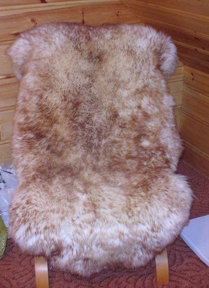 BiG SHEEPSKIN MOUFLON Throw Genuine leather by TrendingSlippers, $49.00