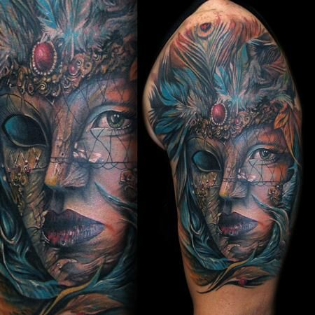 17 best images about tattoos masquerade on pinterest for Face mask tattoo