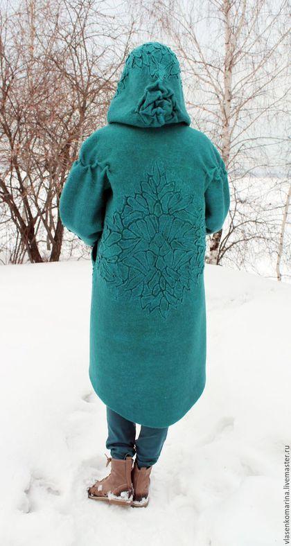 Handmade Outerwear. Order Coat felting Sea wave. Marina Vlasenko. Arts and…