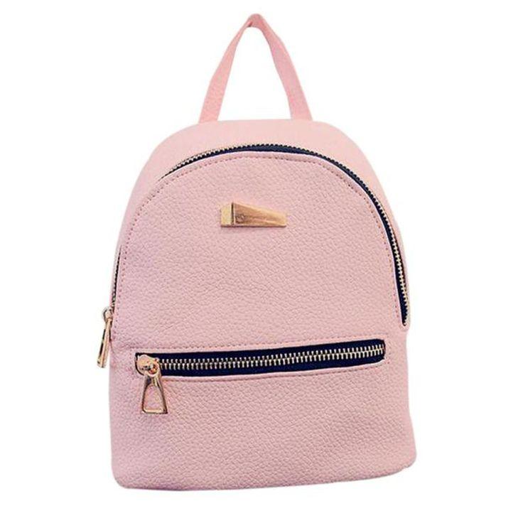 Women's Backpack 3157 School Bag Zipper Pocket Backpacks For Teenage Girls Women Black Bags Backpack Mochila Feminina #2811