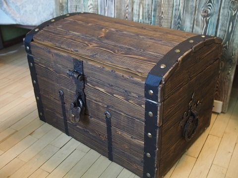 wooden chest DIY video /  DIY chest / pirate chest / Pirate style / video DIY