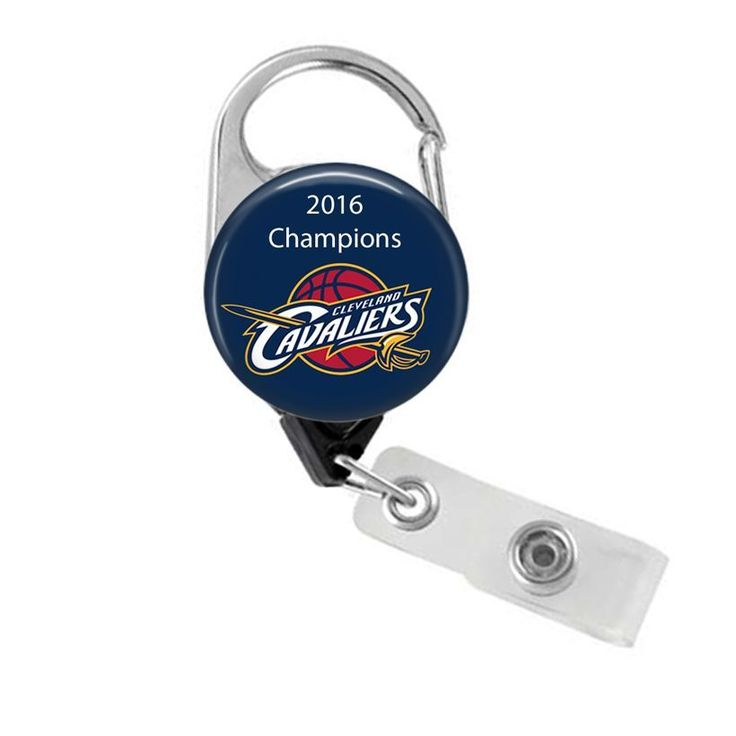 NBA Cleveland Cavaliers 2016 NBA Champions Carabiner Badge Reel ID Holder #ClevelandCavaliers