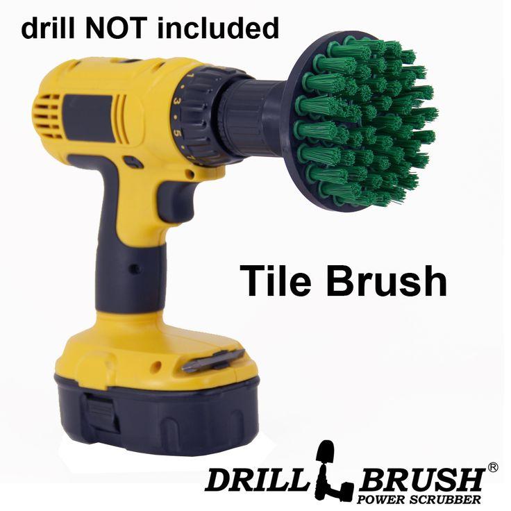 4 Quot Green Med Drill Brush 4 Inch Diameter Nylon Tile