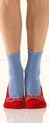 Red Slipper Non Skid Socks