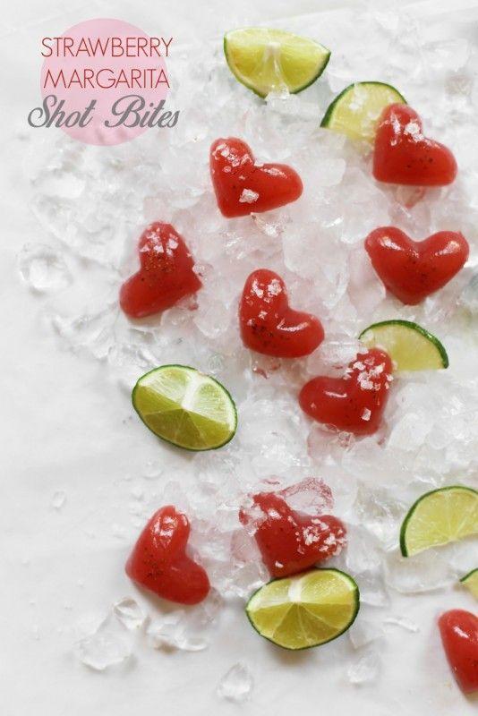 Strawberry Margarita Shot Bites / homemade jell-o shots! / joy the baker