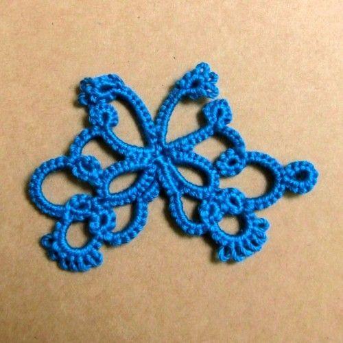 [Tatting] butterfly motif ① how to make [motif] | knitting | knitting, handicrafts, sewing | Atelier