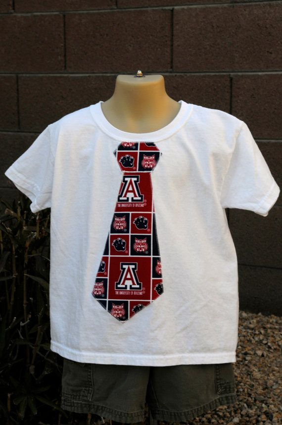 University of Arizona tie shirt  U of A by cutiepatoody on Etsy, $16.50