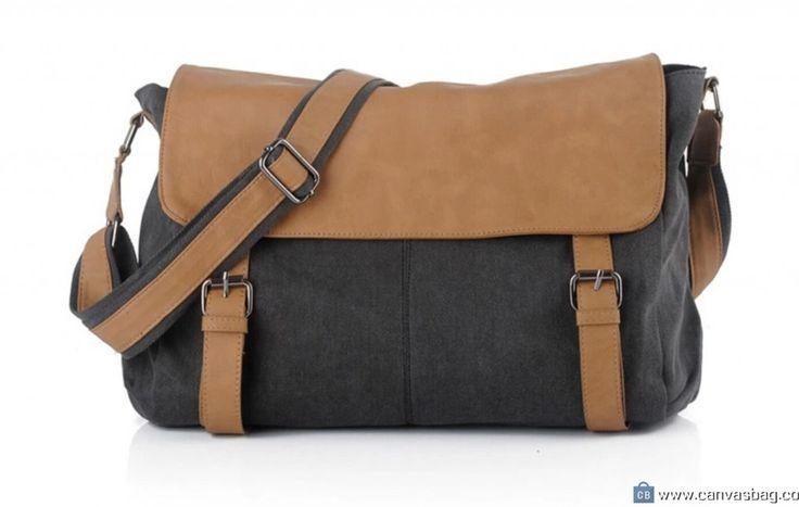 Canvas Shoulder Bag Black