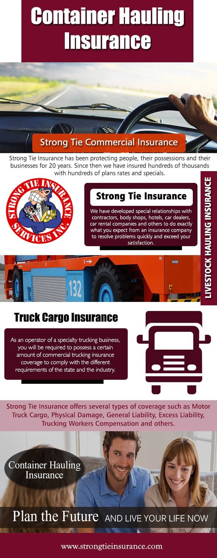 Commercial trucks come in all shapes and sizes and so do their individual truck insurance policies. There are tow trucks, moving trucks, dump trucks, freight trucks.