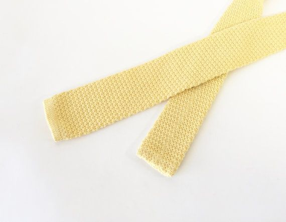 Vintage Square Knit Tie / LL Bean Knit Tie / 1980s by fourBvintage