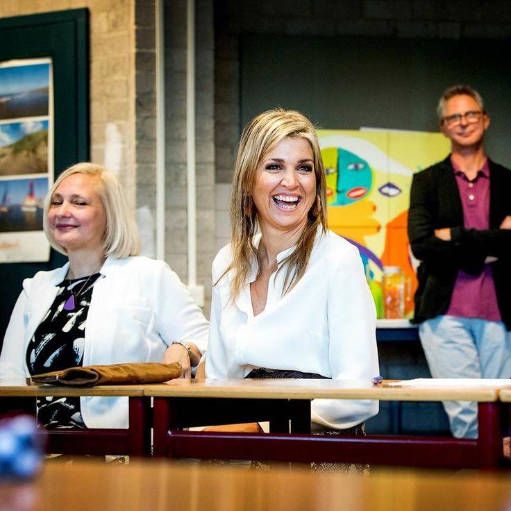 10-06-2016  Koningin Maxima tijdens haar werkbezoek aan Taal aan Zee in Den Haag.   #queenmaxima #koninginmaxima #queen #koningin #nederland #werkbezoek #taalaanzee #denhaag #thehague #maxima