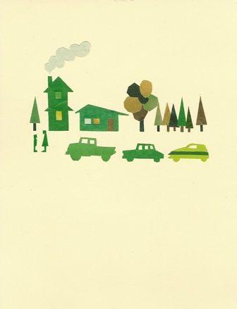 Green town. Takashi Iwasaki.