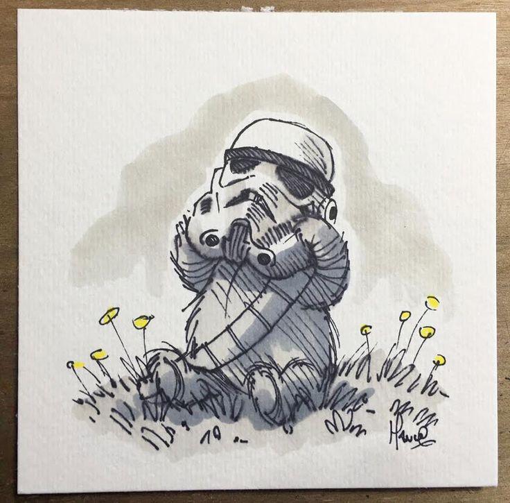 Les personnages de Star Wars dessinés dans l'esprit de Winnie l'Ourson                                                                                                                                                                                 Plus