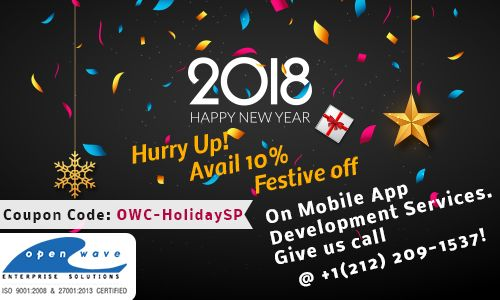 Hurry Up! Limited Offer for Mobile Application Development From #Openwave Team. Don't Miss the chance   Get a quote: salesSG@openwavecomp.com  Speak to our Project Coordinator - 65 94594989   Offer Code: OWC-HolidaySP  #MobileAppDeveloper #Singapore