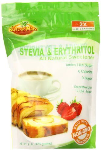 Natural Mate Granular Sweetener, Stevia and Erythritol, 1 Pound Natural Mate http://www.amazon.com/dp/B00F3CWIO6/ref=cm_sw_r_pi_dp_3eACvb1KCC2YT