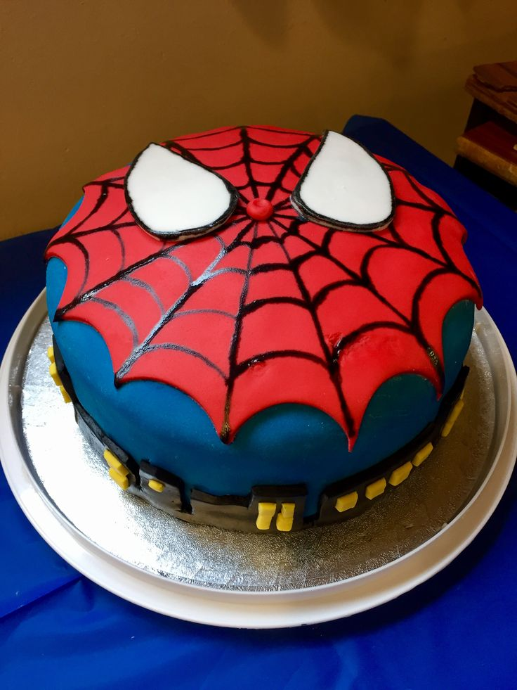 William S 5th Birthday Cake Spiderman Cake Superhero