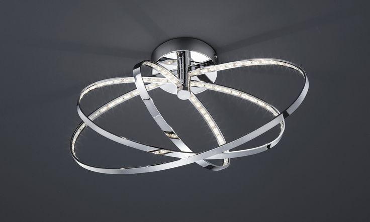 Prater kattovalaisin LED 13 W kromi    Lampun tyyppi: 1 × SMD 13 W  LED (sis.toimitukseen)  Jännite: 230V  Valoteho: 795 lumenia  Valon sävy: 3000 kelviniä (lämmin valkoinen)  Kotelointiluokka: IP20 (kuivaan tilaan)  Rungon materiaali: Metalli  Rungon väri: kromi  Korkeus: 25,5 cm  Halkaisija: 44,2 cm  Takuu: 5 vuotta