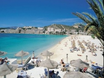Santa Ponsa..memories of my 13th birthday dancing to the Macarena and going on the glass bottom boat :-)
