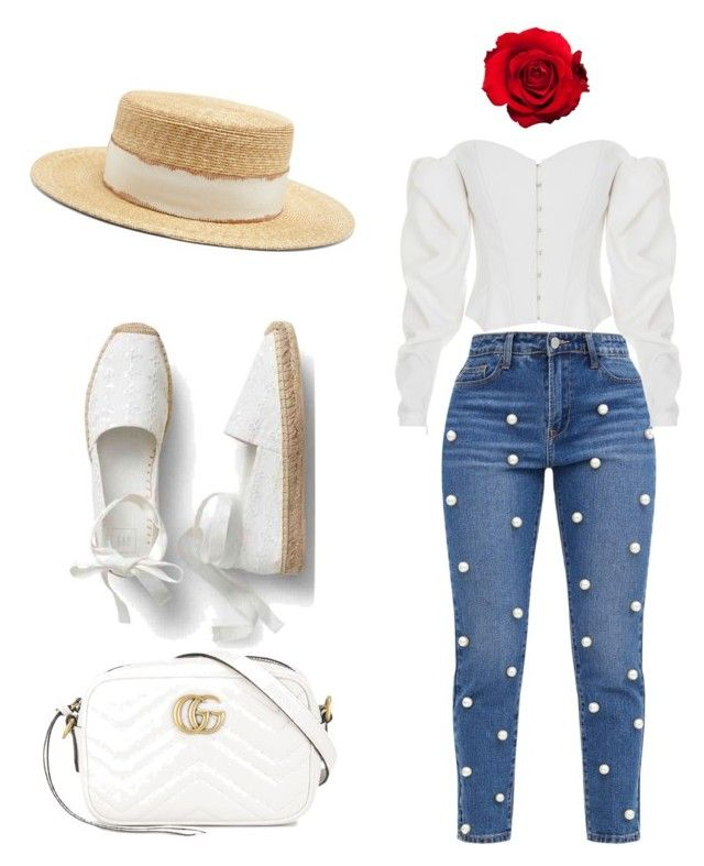"""""""Beautiful style"""" by daniellerose17 on Polyvore featuring ElenaReva, Gucci and Filù Hats"""