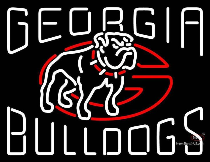 Bulldogs alternate logo ncaa real neon glass tube