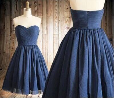 Homecoming Dress,Navy Blue Homecoming Dresses,Tulle Homecoming Dress,Party Dress,Prom Gown