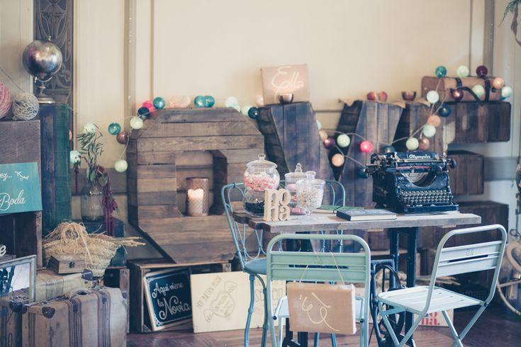 decoracion de stand vintage