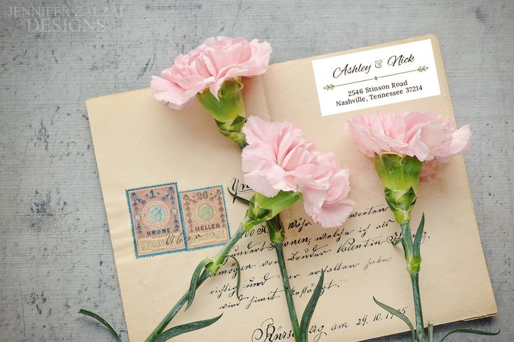 Personalized Calligraphy Return Address Labels | Custom Mailing Stickers by DesignsByZal on Etsy