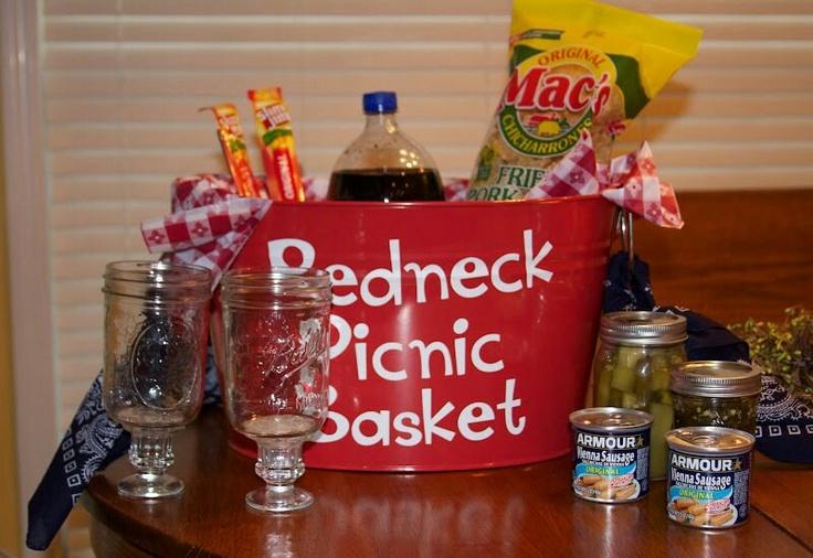 Ideas For A Picnic Basket Gift : Redneck picnic basket auction items