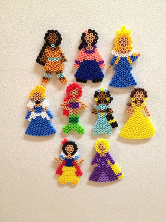 Disney Princess Magnets or ornaments perler bead by kiimberrr