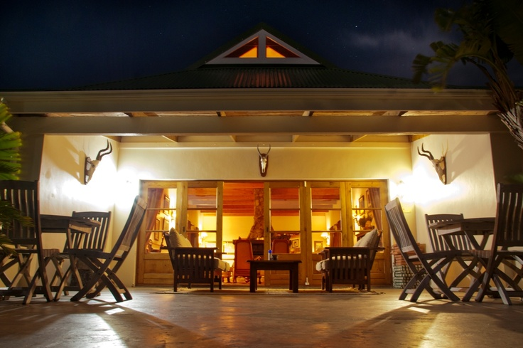 Front Patio at Night, Dune Ridge Country House, St Francis Bay