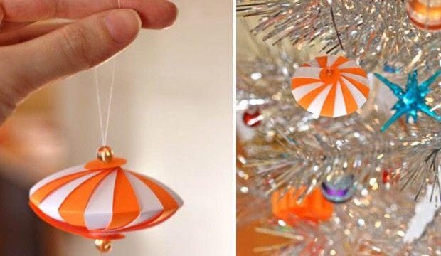 Papírová ozdoba nejen na vánoční stromek (Fotonávod)