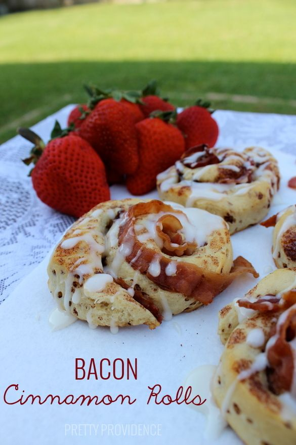 bacon cinnamon rolls! these are amazing, sweet and savory! your man will LOVE them!