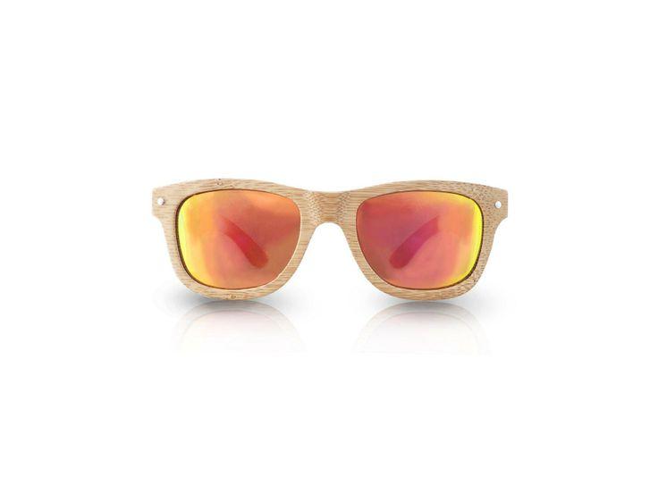 Ecolution Bamboo and Wood - Raleri Sunglasses - Stone Surf Habana 1191 Cod. 805845019-1191 Natural (Colore Naturale) Mod. Stone Surf - Bamboo Col. Habana Lens. Red Mirror UV400 Polarized + Antiglare