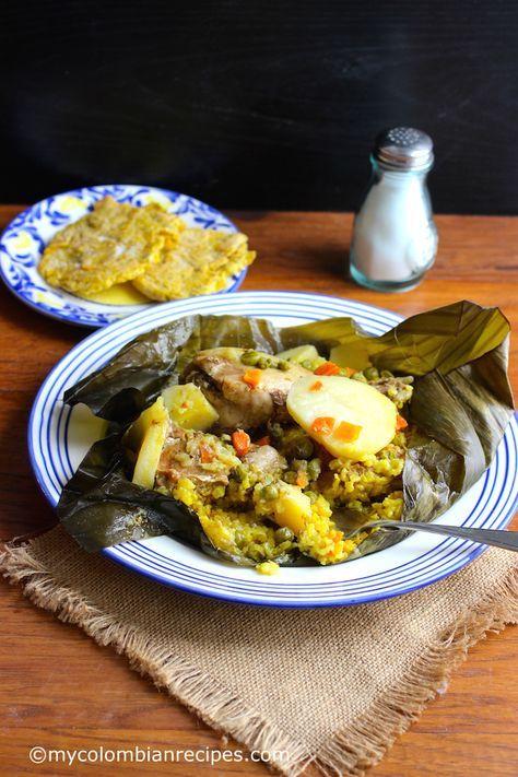 Pasteles de Arroz (Rice Tamales)  mycolombianrecipes.com