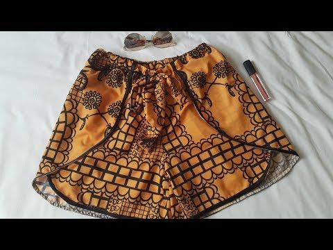 38d85ebef7 Shorte emvelope fácil usando 70 cm de tecido - YouTube Coser Shorts