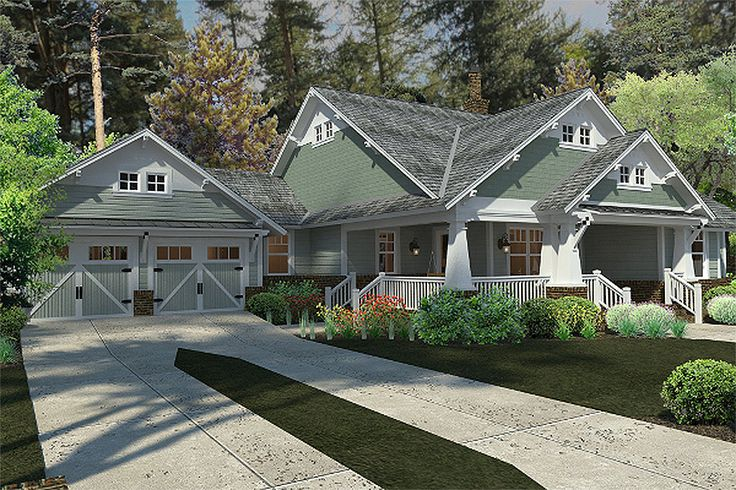 Garage would be a perfect photo studio!  Craftsman Bungalow house plan. Our custom plan looks very similar to this.