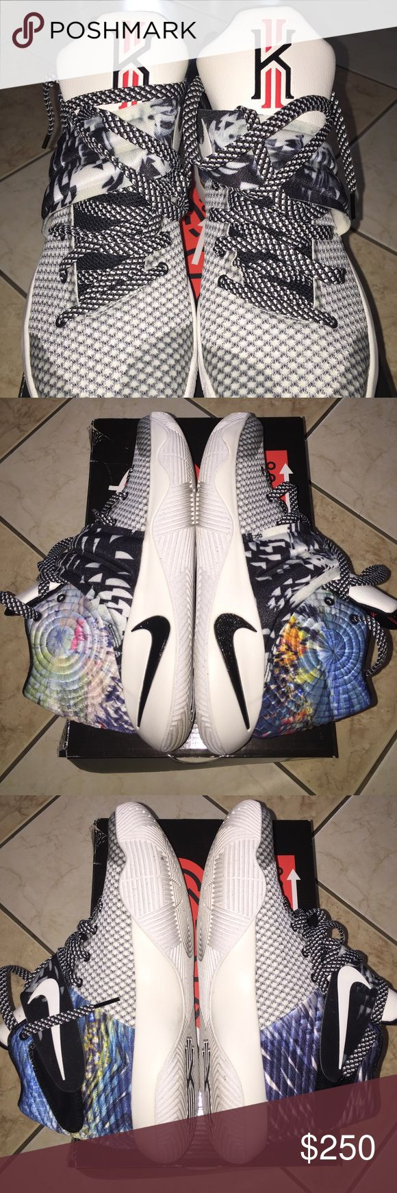 Kyrie-2 mens sneakers size 9.5 Kyrie-2 mens sneakers size 9.5, multi-color black/sail. Worn twice, great condition worn twice Kyrie Irving Shoes Sneakers