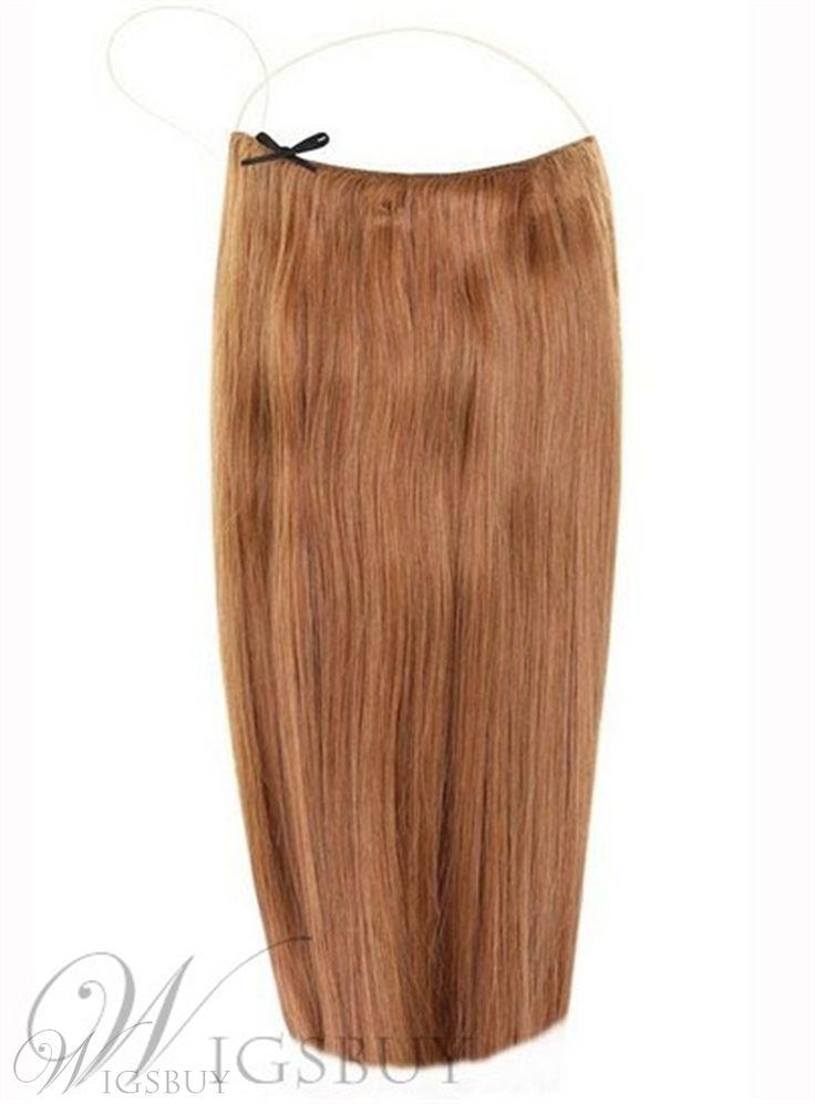 Chestnut Straight Human Hair Flip In Hair Extension