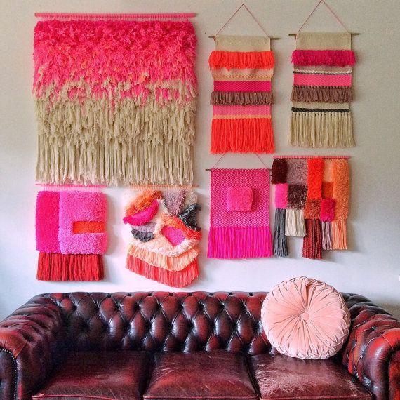 A pedido tejido pared colgantes / Furry maravillosos por jujujust