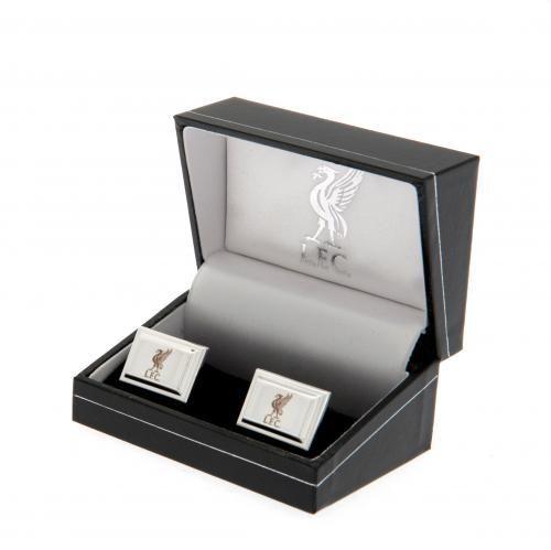 Liverpool FC Cufflinks - Silver Plated | LFC Merchandise | Gifts Shop