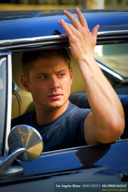 """""""Hot guy, in a hot car. I'll take two"""" It's Dean, dumb person who pinned this before me. Not just some """"hot guy"""". I should slap you through the Internet."""