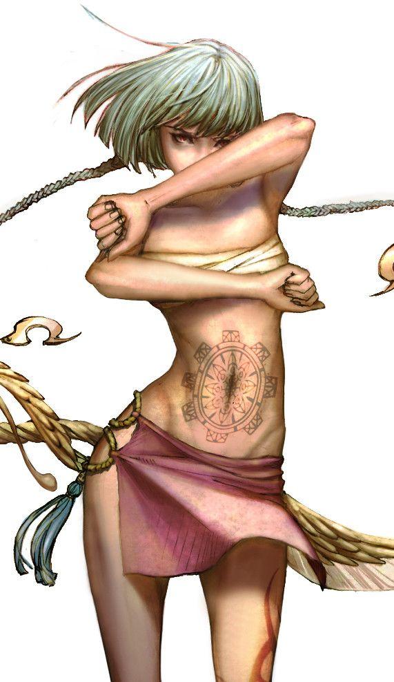 Kunoichi (hand sketch to digital coloring), Harori Chéi on ArtStation at https://www.artstation.com/artwork/kaP1n