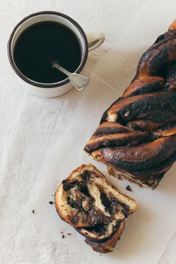 chocOlate babka - made of rich brioche dough and chocolate filing